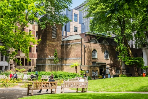 St Botolph's-without-Aldersgate from Postman's Park