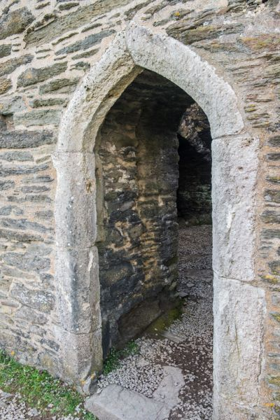 St Catherines Castle photo, The Tudor castle doorway arch