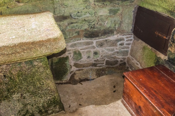 The recess where St Clether's bones were stored
