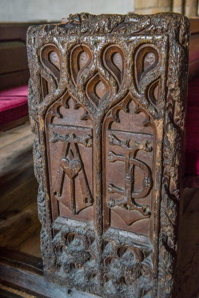 A 16th century bench end