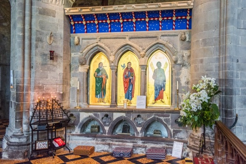 St David's shrine in the cathedral
