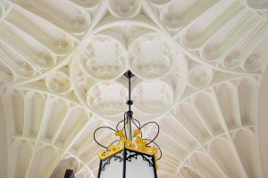 Fan vaulted porch ceiling