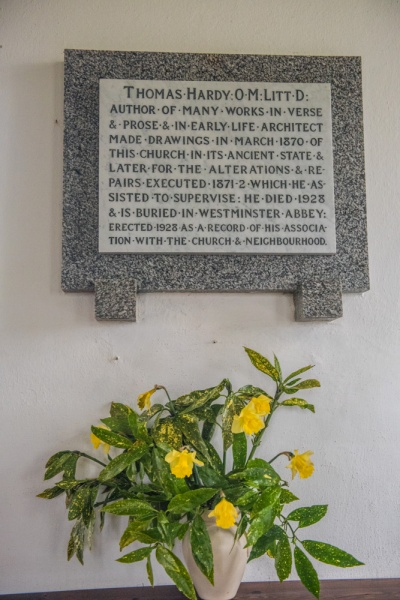 Thomas Hardy memorial tablet