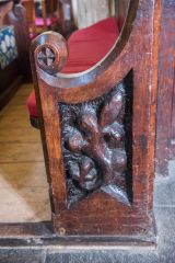 A late medieval bench end