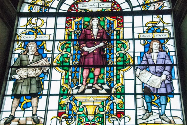 Sir Christopher Wren stained glass window
