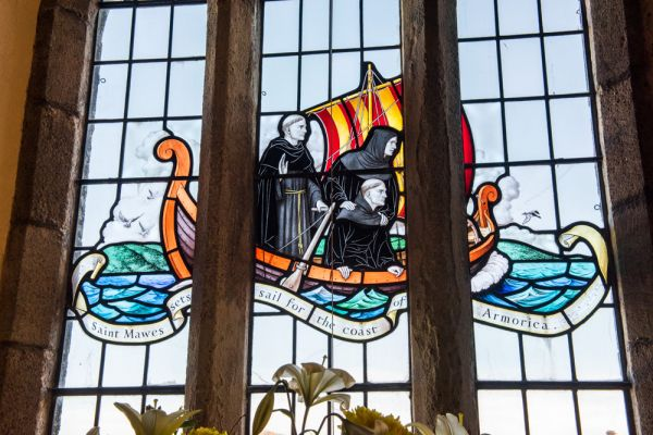 St Mawes photo, Stained glass window, St Mawes church