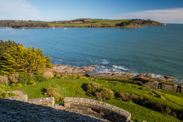 St Mawes Castle photo, The view towards St Anthony-in-Roseland