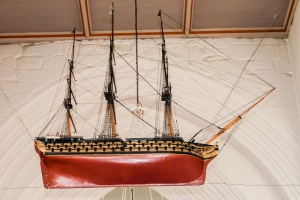18th century model of a ship