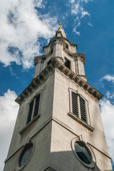 The early 18th century tower by Nicholas Hawksmoor