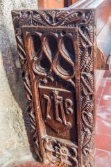 Another of the carved bench ends