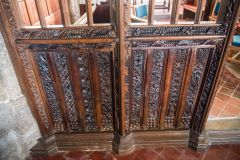 Base of the beautifully carved screen