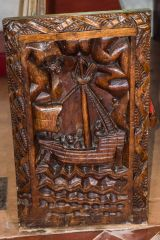 16th century bench end of a ship