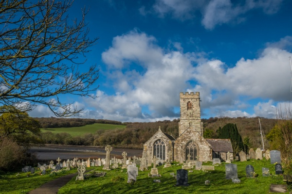 St Winnow church and the River Fowey