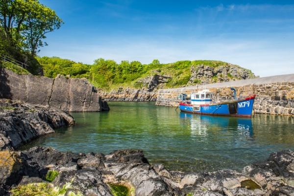 A fishing boat at Stackpole Quay