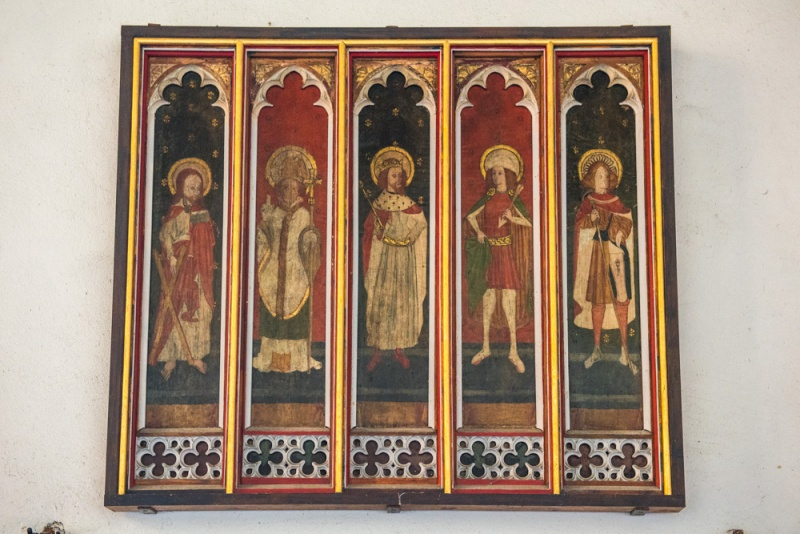 Restored panels from the medieval rood screen