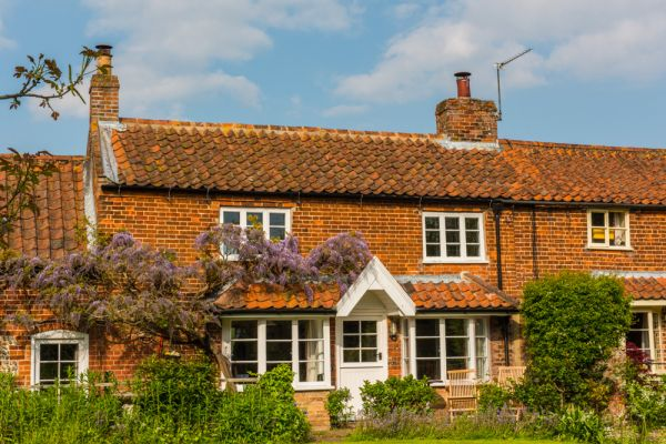 Stalham photo, Pretty cottages on Ingham Road