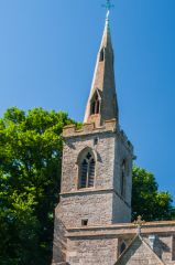The steeple that gave the village its name