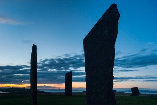 Stones of Stenness at sunset