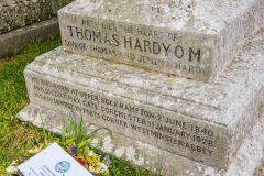 Thomas Hardy's grave at Stinsford