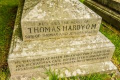 Stinsford, St Michael's Church, Thomas Hardy's grave inscription