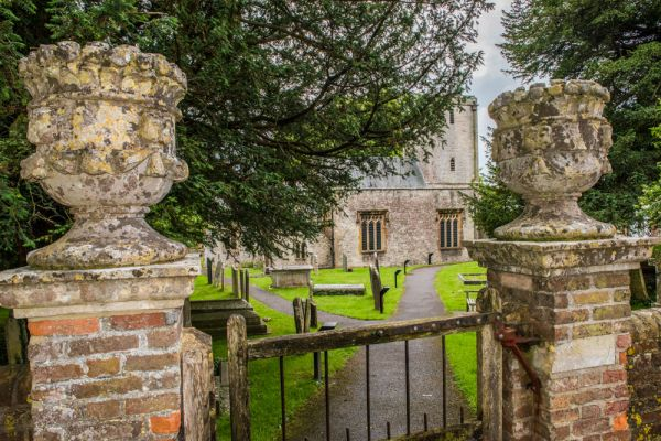 Stinsford photo, The ornate churchyard gates at Stinsford