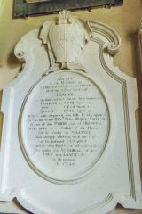 18th century Lewys memorial