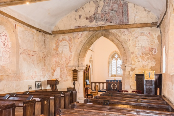 Stoke Orchard church interior