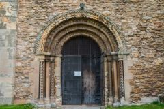 Stow Minster, The beautifully carved entrance doorway