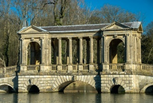 Palladian bridge at Stowe Landscape Garden
