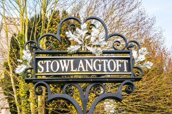 The Stowlangtoft village sign