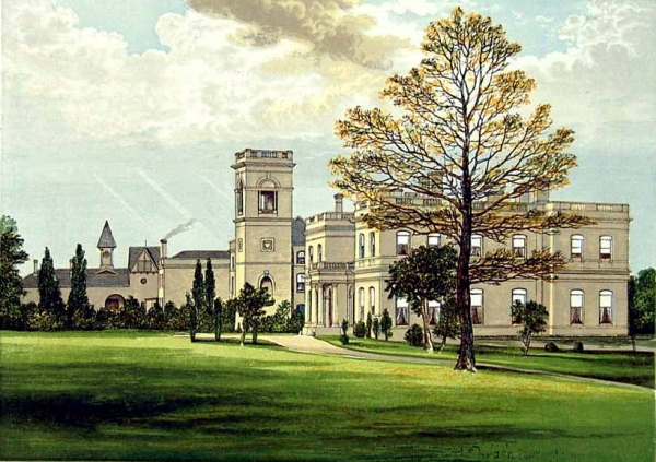 A print of Stowlangtoft Hall by FO Morris, 1880