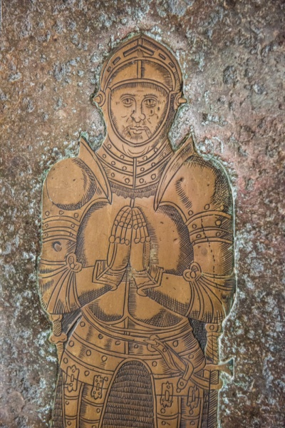 Sir John Arundell brass in St Andrew's Church