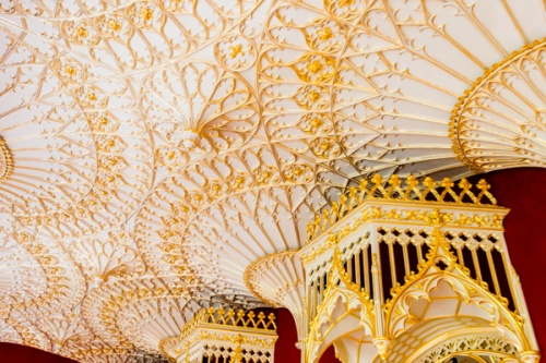 Strawberry Hill House gallery ceiling