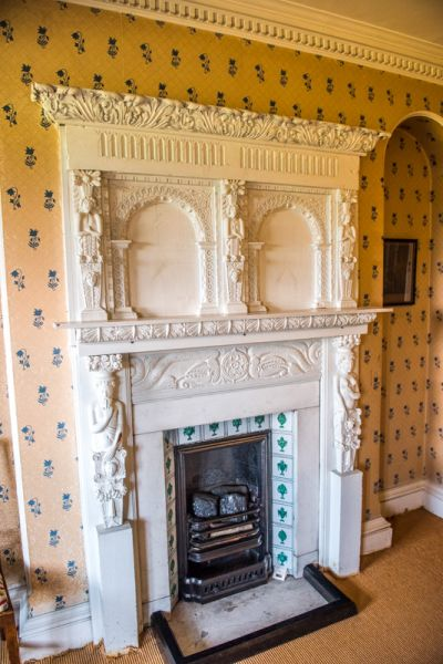 Sudbury Hall photo, An ornately carved fireplace