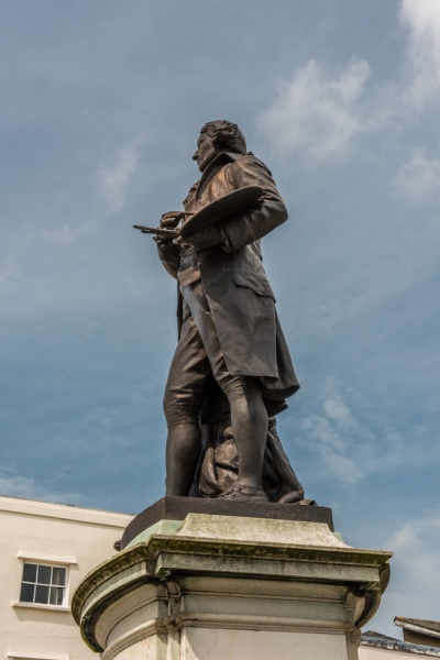 Thomas Gainsborough statue in the market place