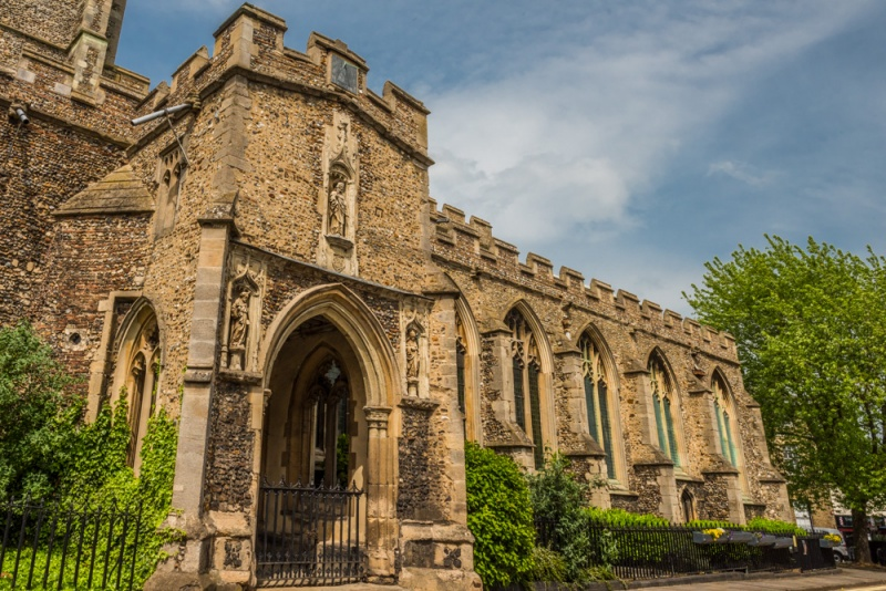 The south porch of St Peter's church, Sudbury