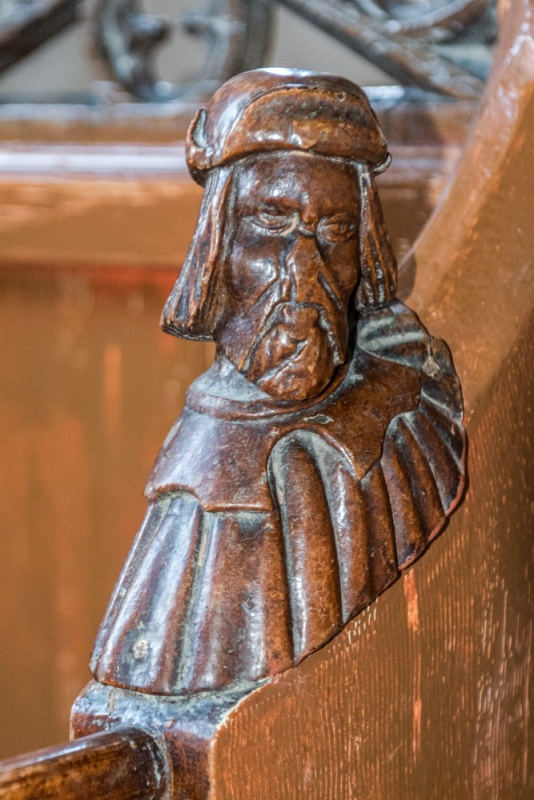 A 15th century bench end