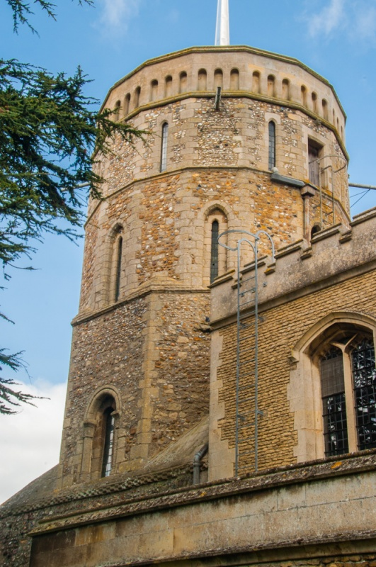 The unusual 16-sided Norman tower
