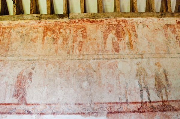 13th century wall paintings in St Mary's Church, Tarrant Crawford