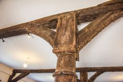 Timber beams in the Market Hall