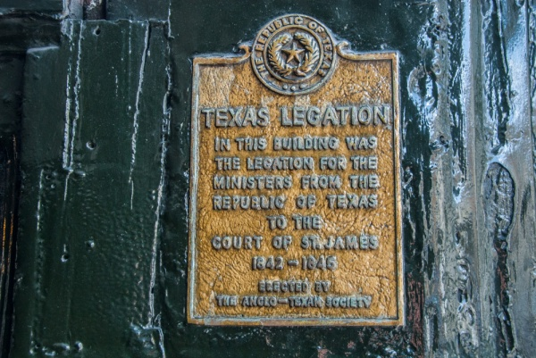 Texas Legation plaque