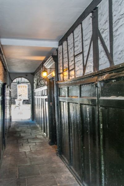 The passage to Pickering Place (Legation on right)