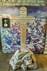 Keep Military Museum of Devon and Dorset, The 'Wagon Hill' cross erected at Ladysmith during the Boer war