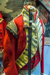 Keep Military Museum of Devon and Dorset, 1790 Ensign's coatee of the South Devon Regiment