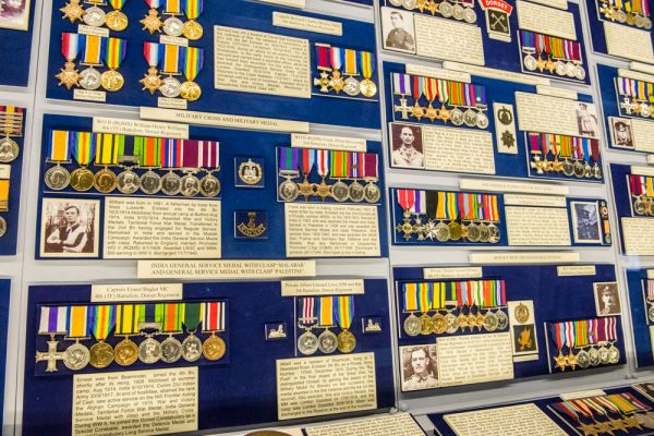 Keep Military Museum of Devon and Dorset photo, A selection of WWI medals won by regimental soldiers