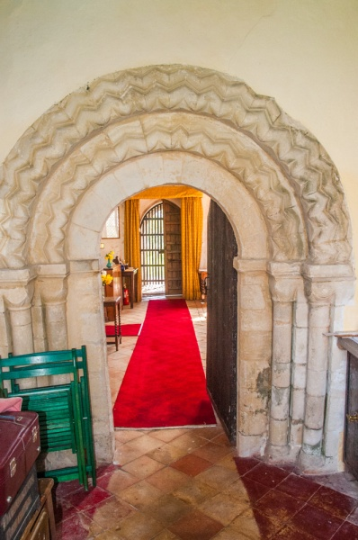 A Norman doorway in the vestry