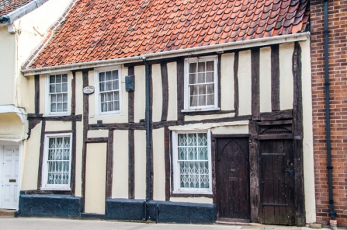 A picturesque timber-framed house in Thetford, Norfolk