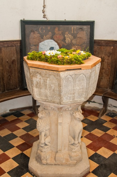 The 13th century Purbeck marble font