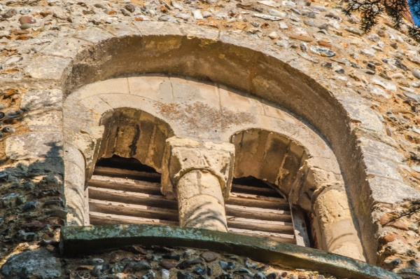 A 12th century belfry window opening