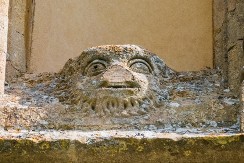Green Man carving over the south porch